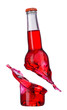Color bottle isolated