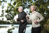 Fototapety Elderly couple jogging