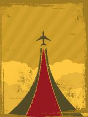 Retro plane background
