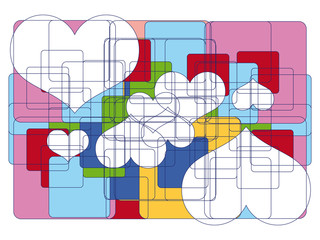Abstrakt - Background - Muster - Herze