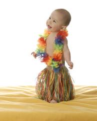 adorable baby hula dancer