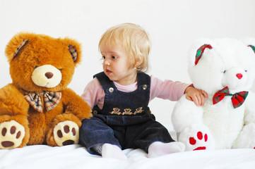 Girl and bears