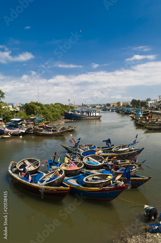 boats at mui ne harbour - Phan Thiet Vietnam
