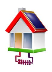 ökohaus mit solar und erwärme
