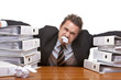 Stressed frustrated business man in office - Stress im Büro
