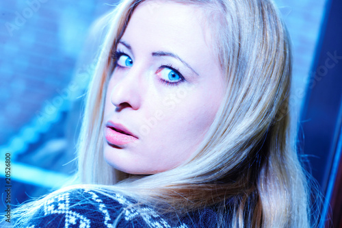 canvas print picture Portrait blonde Frau