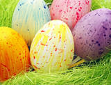Fototapety Colourful Easter Eggs - Farbige Ostereier