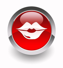 ''Lips'' glossy icon