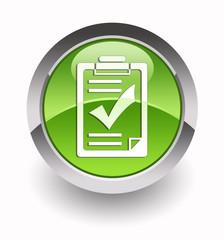 ''Checklist'' glossy icon