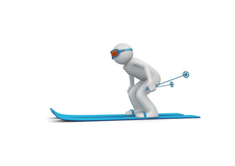 Downhill skier 2