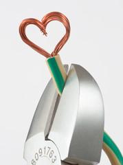 Kappen des Herzkabels