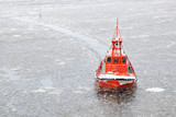 coastal safety, salvage and rescue boat in winter time