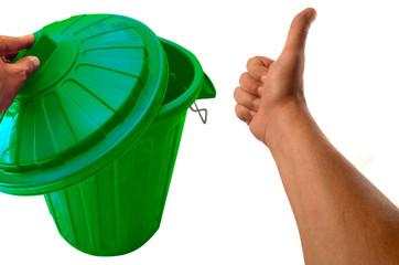 la poubelle verte
