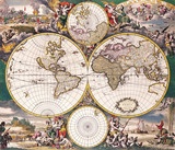High-quality Antique Map - Frederick De Wit, 1668 poster