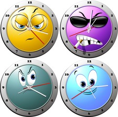 Orologio Cartoon-Cartoon Clock-Orloge Cartoon-Vector 2