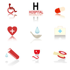 Icon Medicine Set Vector illustration