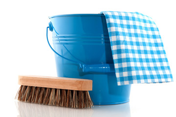 Cleaning in blue
