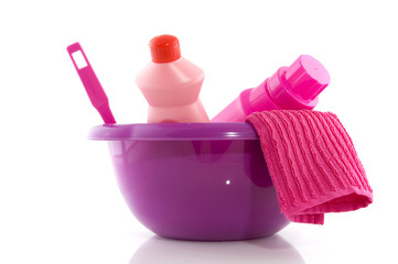 Cleaning in pink