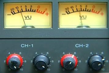 Betacam SP - VU Meters - CH1 CH2