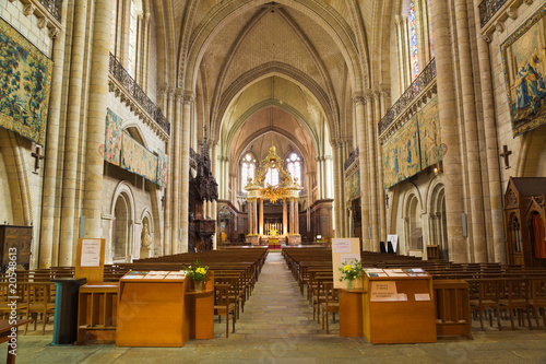 Interior of Angers Cathedral. France