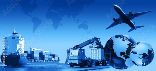 Leinwandbild Motiv Freight Business