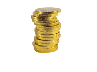 Pale of gold coins