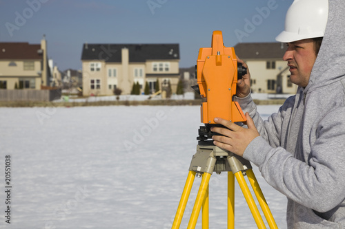 Land surveying during the winter