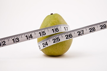 Pear and tape measure