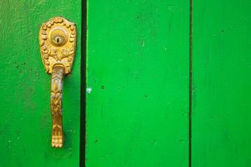 Spanish colonial style door. Cartagena de Indias, Colombia