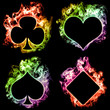 Rainbow Fire Poker Symbols