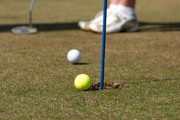 Two golfballs