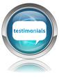 TESTIMONIALS Web Button (Internet Opinions Reactions Share Blue)