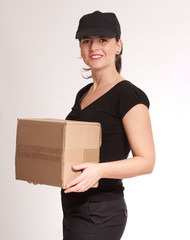 Smiling Delivery girl