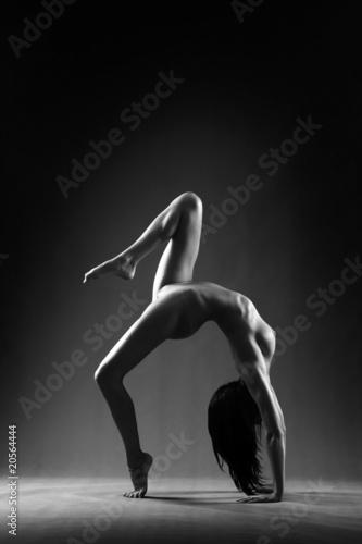 Foto op Canvas Akt Gymnastic nude