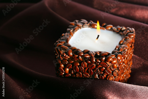 Candle and silk