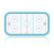Hockey Rink. Vector.