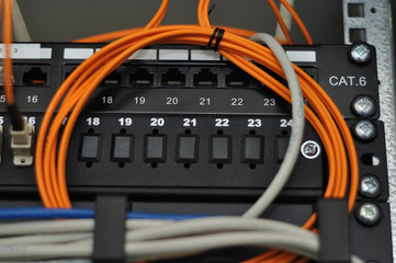Wires and patch panel