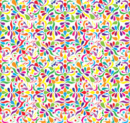 Bright seamless patten with little components, vector ilustraton