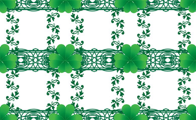 Clover seamless background for St. Patrick`s day