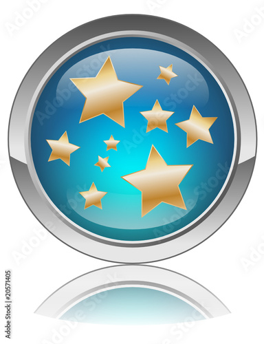 GOLD STARS Web button (popstars gossip celebrity party news)
