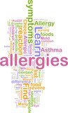 Allergies word cloud poster