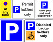 parking traffic signs vector illustration