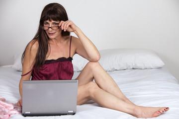 Attractive forties hispanic brunette woman