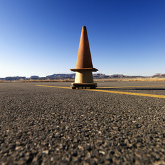 Cones on Airport Tarmac