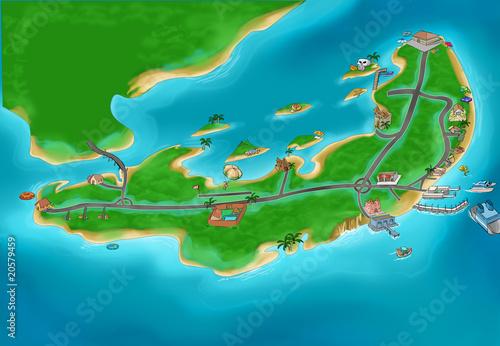Foto op Plexiglas Op straat Island map