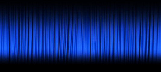 Blue theater curtain with spot lights