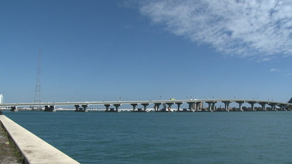 McArthur Causeway in Miami, Florida - horizontal pan