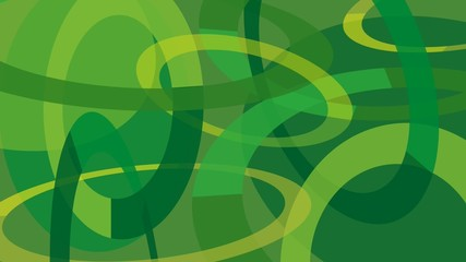 Abstract Green Graphics Loop for Video Edit