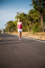 Jogging on the road