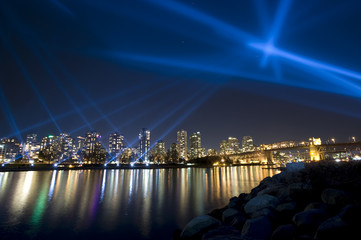 Vanier 'vectorial' light show – Vancouver, Canada